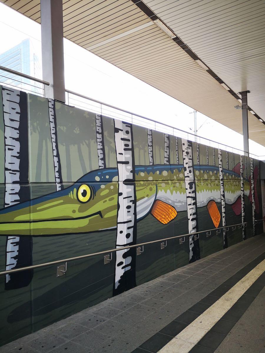 Mural im Hauptbahnhof (Unterführung)