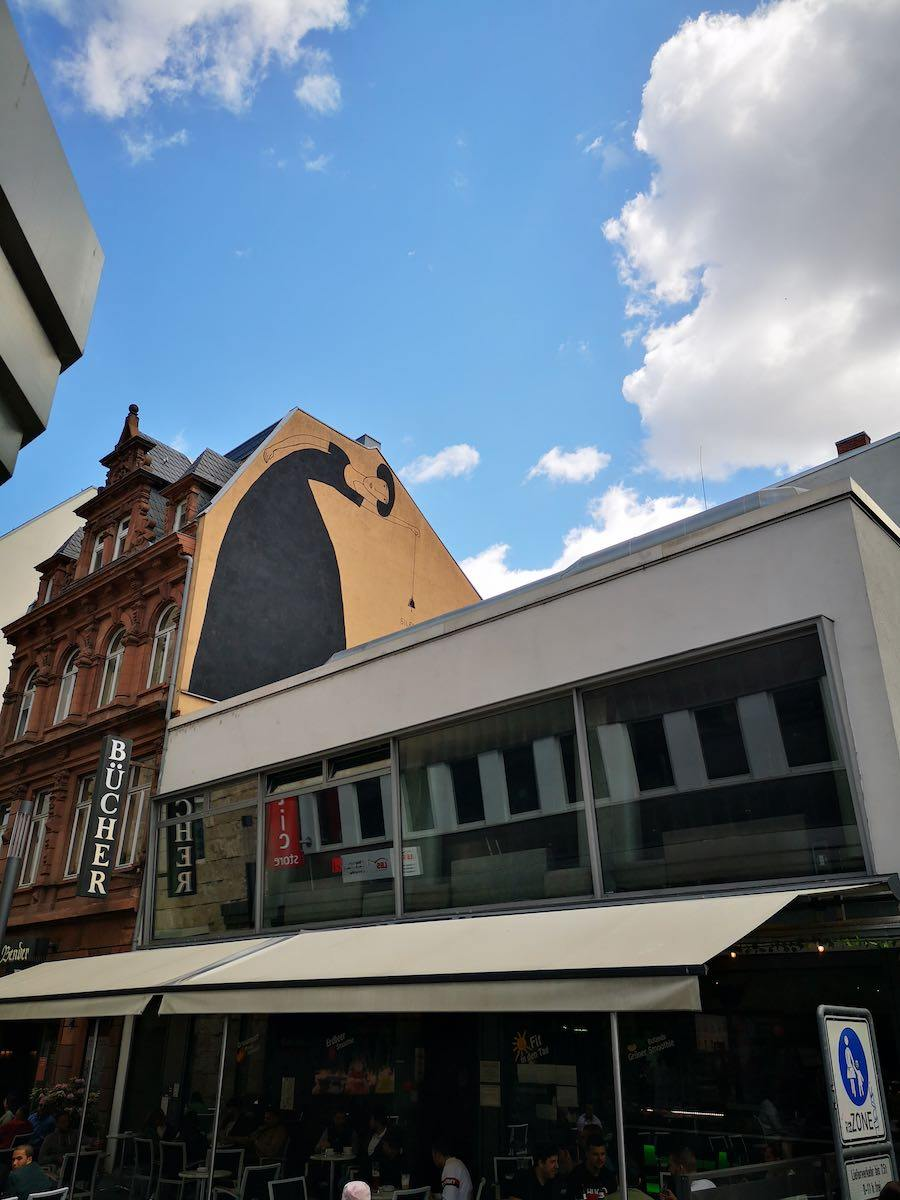 Mural in Mannheim in dem Innenstadtbereich (den sogenannten Quadraten)