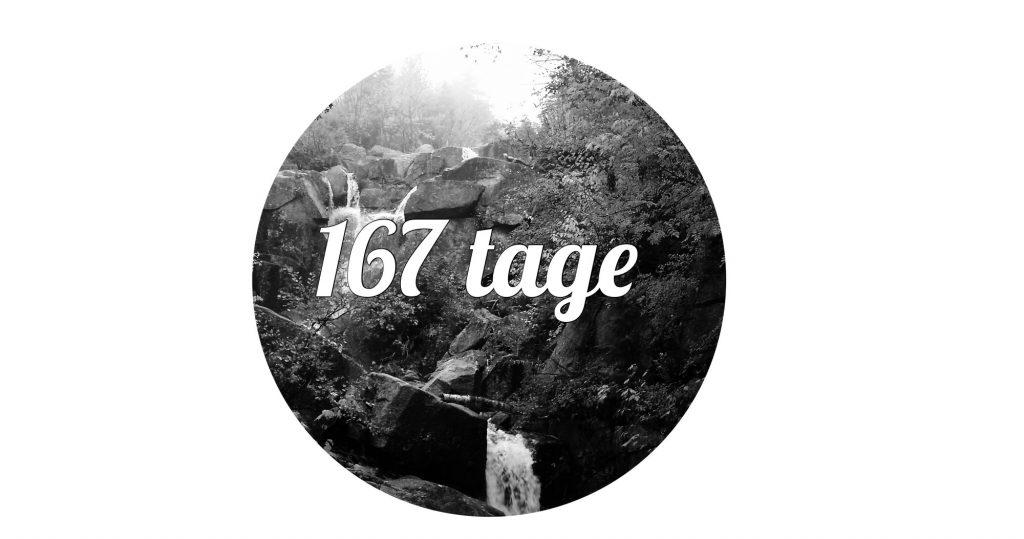 167 Tage. Fotogalerie, die die Bilder eines Countdowns zeigt. Alte Bilder mit alten Kameras und alten materialen