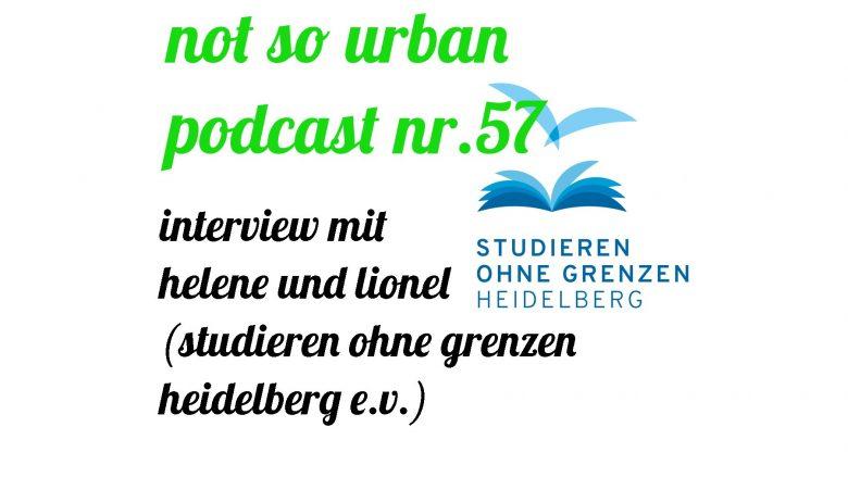 Vorschau für not so urban Podcast Nr. 57: Interview mit Helene und Lionel