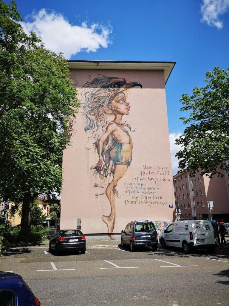 Mural von Herakut in Mannheim
